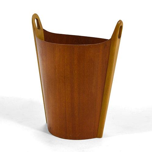 P. S. Heggen Teak Wastebasket by Einar Barnes