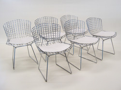 Bertoia Chrome Wire Side Chairs