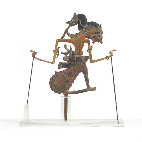Wayang Shadow Puppet with Lucite Stand