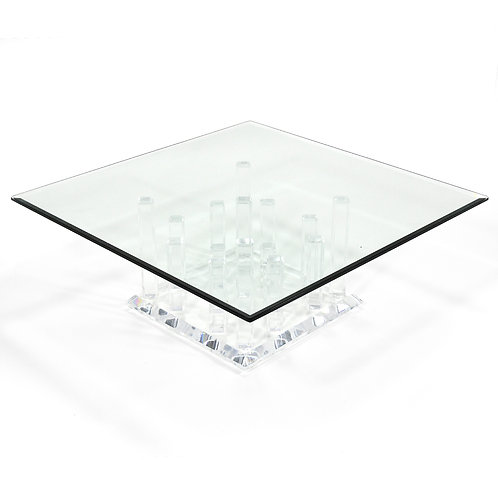 "Lucite ""Cityscape"" Coffee Table"