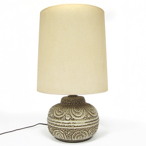 Design Technics Table Lamp With Patterned Textural Base