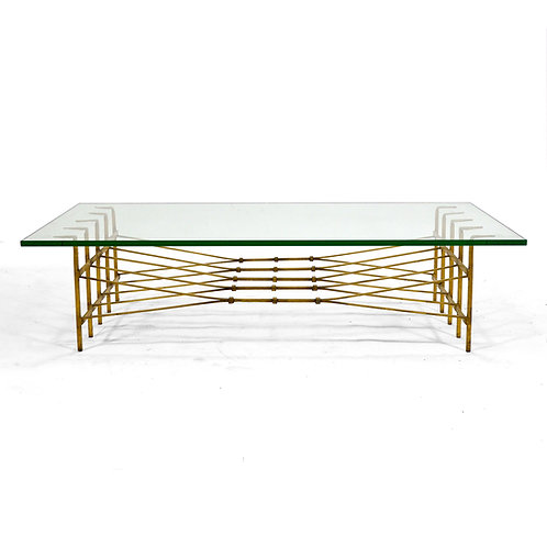 S.X. Graham Gilded Iron Coffee Table