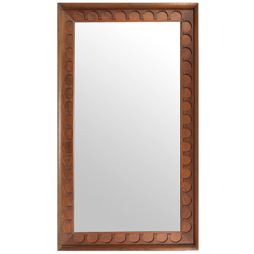 Walnut Framed Mirror by Nelson/  Umanoff