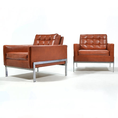 Pair of Lounge Chairs from Inland Steel