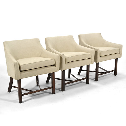 Harvey Probber Set of Three Armchairs