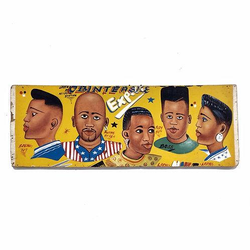 West African Folk Art Barber Shop Sign
