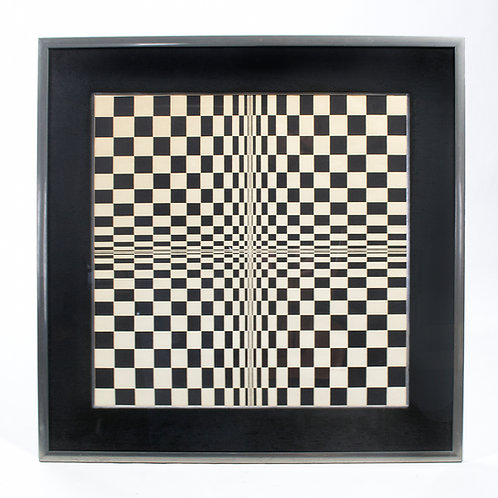 Tom Strobel Op Art Lithograph
