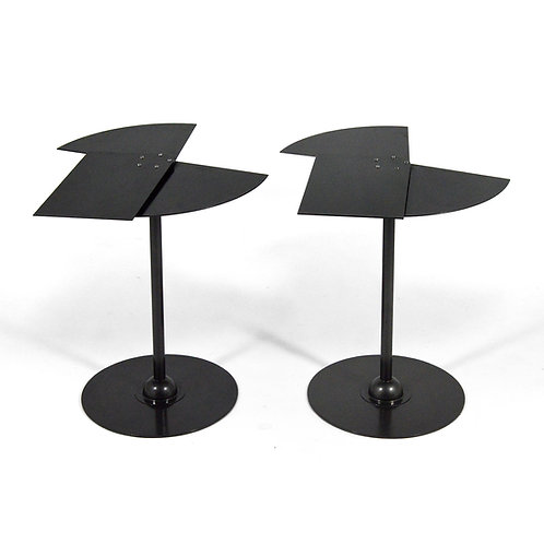 Pair of Pierre Chareau Éventail Side Tables