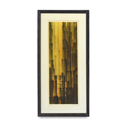 Abstract Cityscape Print by Richard Florsheim