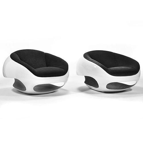 Pair of Mario Sabot Lounge Chairs