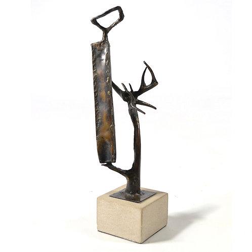 Clyde Ball Abstract Bronze Sculpture