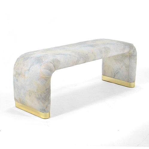 Karl Springer Style Bench