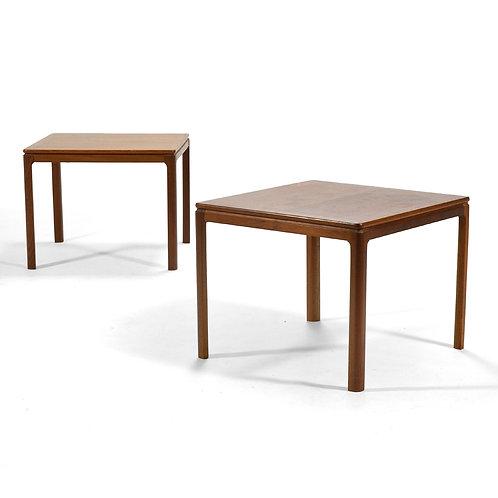 Dux Pair of Teak Side Tables / Nightstands