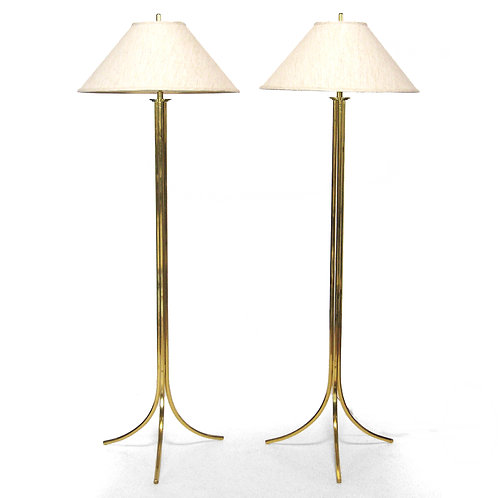 Brass Floor Lamps by Lang-Levin
