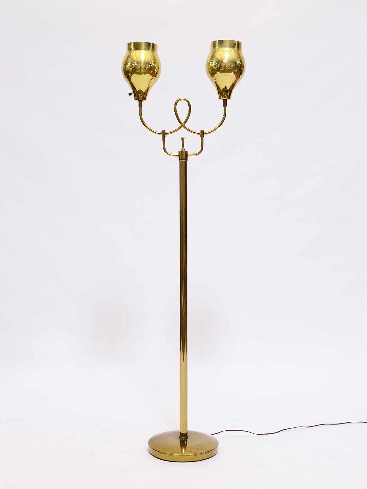 Paavo Tynell Brass Floor Lamp