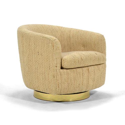 Milo Baughman Barrel Back Lounge Chair by Thayer Coggin