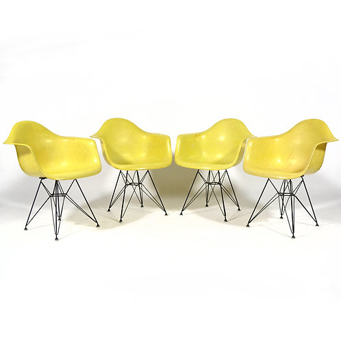 Set of Eames Zenith DAR Armchairs by Herman Miller