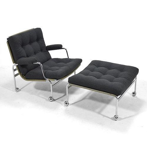 """Bruno Mathsson """"Karin"""" Lounge Chair & Ottoman"""