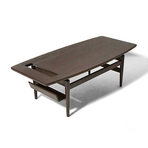 Jens Risom T 390 Coffee Table with Magazine Holder