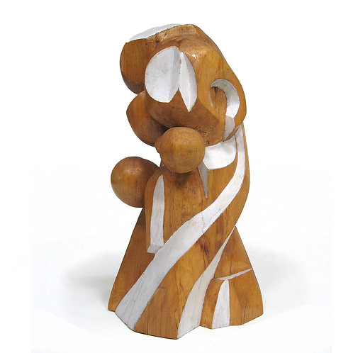 Arthur Rossfield Abstract Wood Sculpture