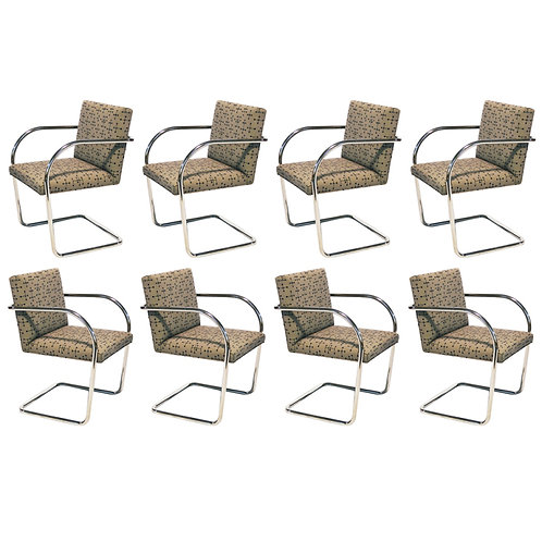 Mies van der Rohe tubular Brno chairs by Knoll