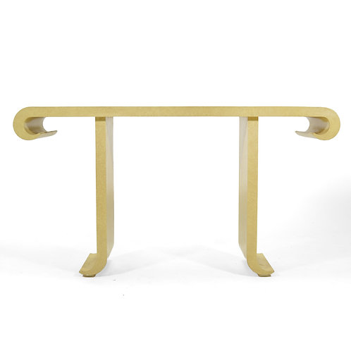 Alessandro For Baker Ivory Console Table