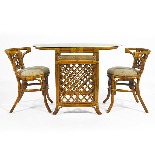 Rattan & Cane Table and Chair Set