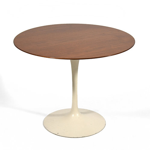 Eero Saarinen Tulip Table with Teak Top by Knoll