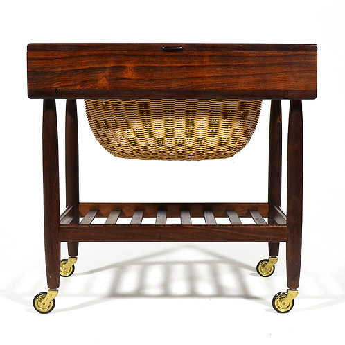 Ejvind Johansson Rosewood Sewing Table or Cart
