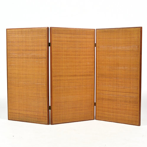 Walnut and Cane Folding Screen