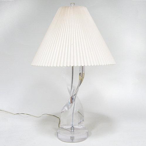 Lucite Twist Lamp