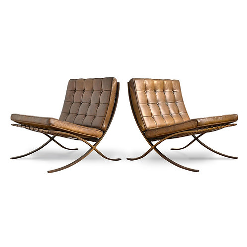 Mies van der Rohe Barcelona Chairs from the IBM Building