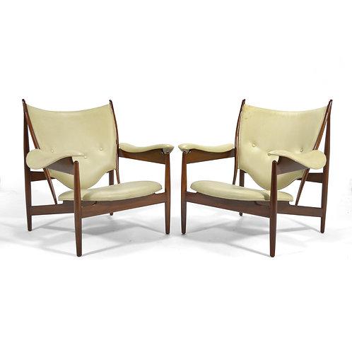 Finn Juhl pair of Chieftain Chairs by Baker