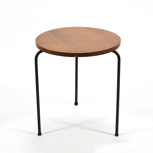 Wood & Iron Stool in the Manner of Luther Conover