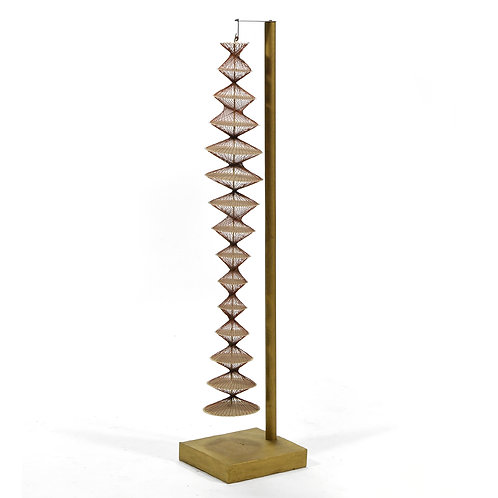 Abstract Geometric Sculpture in Steel & String