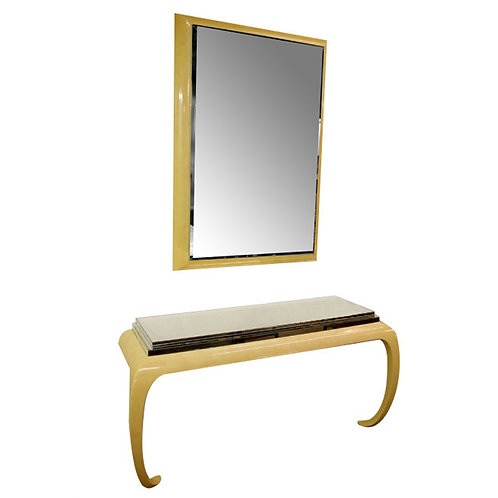 Gampel-Stoll Mirror and Console Table