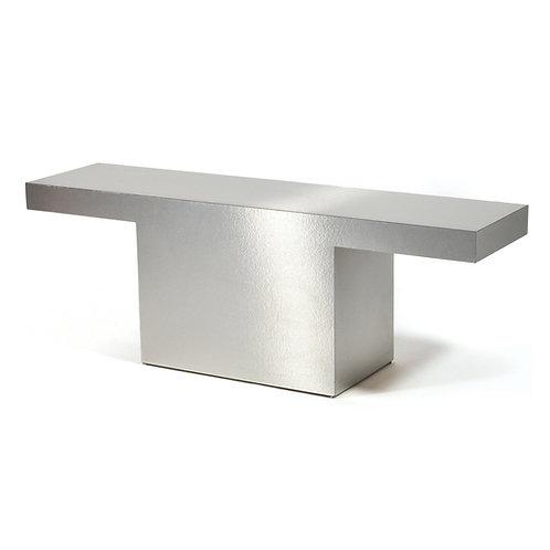 Silver Console Table