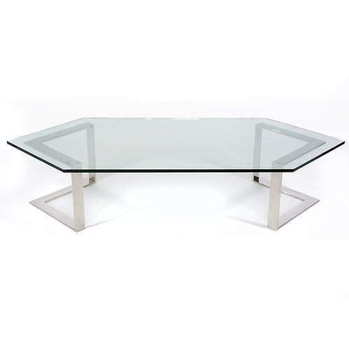 Directional Chrome & Glass Coffee Table