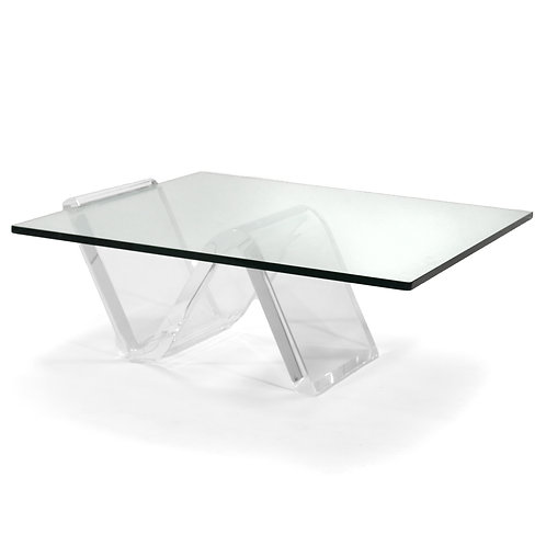 Lucite Zig Zag Table