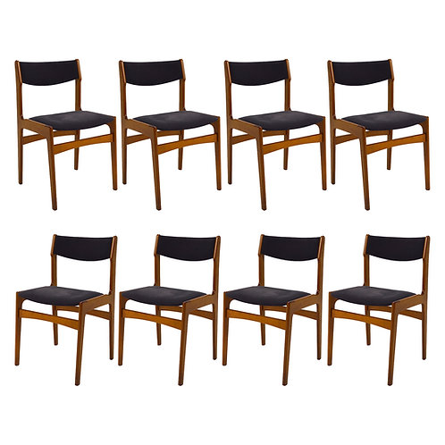 Set of 8 Danish Side Chairs by Anderstrup Mobelfabrick