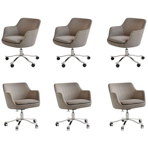 Nicos Zographos Executive Armchairs with Casters