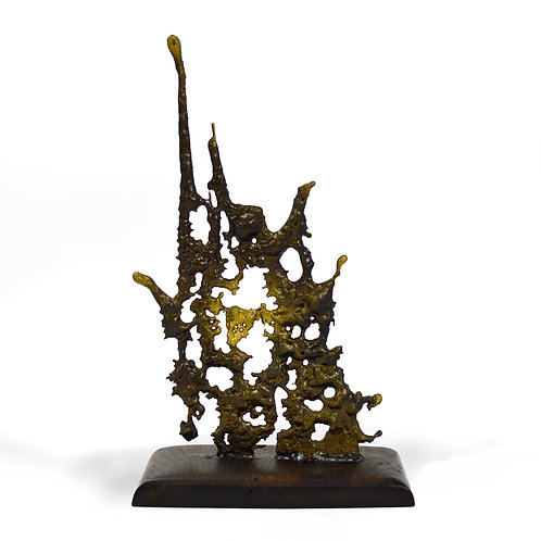 Abstract Spill-cast sculpture