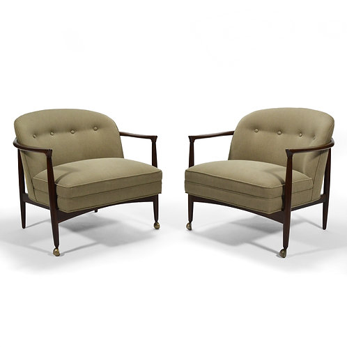 Finn Andersen Barrel-Back Lounge Chairs