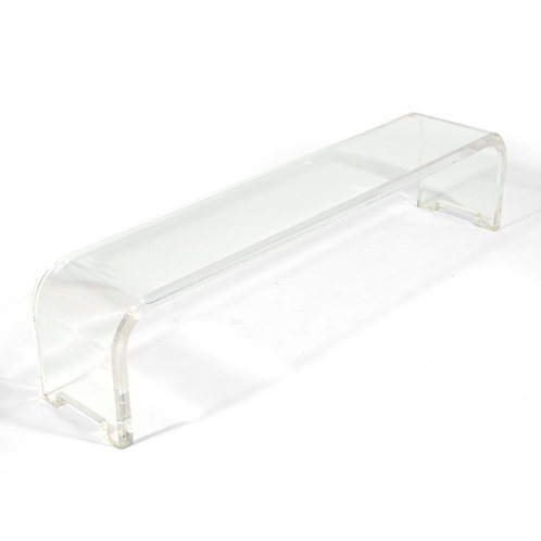 Long Lucite Waterfall Bench