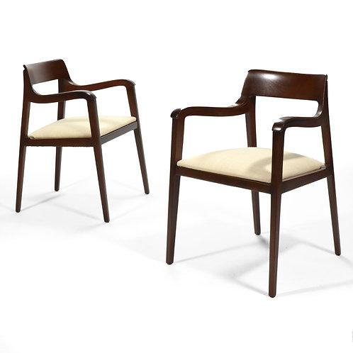 Pair of Edward Wormley Riemerschmid Armchairs