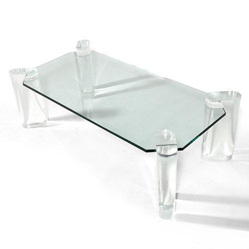 Karl Springer Lucite Leg Table