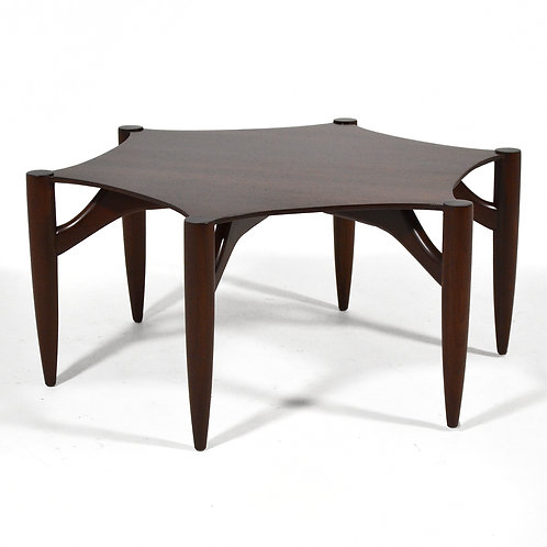 Rare Greta Grossman Rosewood Coffee Table