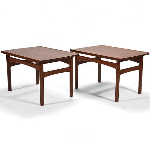 Tove & Edvard Klindt-Larsen Pair of Solid Teak Side/ End Tables