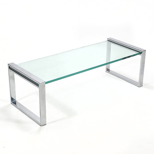Cy Mann Chrome and Glass Coffee Table