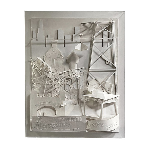 """Kevin Keen """"Riverview"""" Paper Construction"""